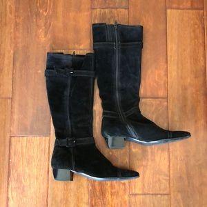Sesto Meucci Tall Black Suede Boots